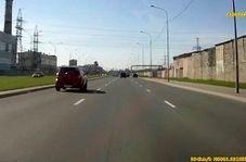 صحنهای عجیب که رانندگان در بزرگراه با آن مواجه شدند