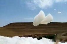 پدیده ای عجیب در آسمان یمن