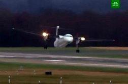 فرود خطرناک هواپیماهای مسافربری در طوفان