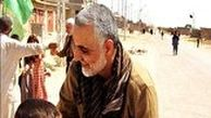 برآورده شدن آرزوی دختر شهید مدافع حرم توسط شهید سلیمانی