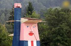 مجسمه چوبی ترامپ برای مبارزه با پوپولیست!