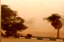 فیلمی از لحظه وزش طوفان در «کرکهرک»