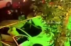 صحنه چاقو خوردن هانی کرده لات معروف تهران توسط دو موتور سوار