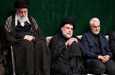 مداحی محمود کریمی در حضور سردار سلیمانی و مقتدی صدر