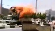 کامیونی در قم خیابان را به آتش کشید!