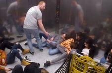 دوربین مخفی مهیج در داخل آسانسور