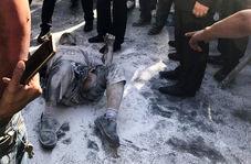 خودسوزی مرد میانسال در مقابل ساختمان شهرداری تهران!