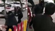 کتک خوردن بازیگر حین اجرای نقش در خیابان!