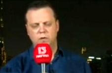 بیهوش شدن خبرنگار صهیونیستی هنگام گزارش