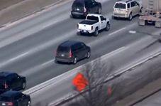 تصادف وحشتناک یک سارق با دو خودرو حین فرار از دست پلیس
