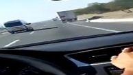 تصادف وحشتناک تریلی با خودرو به دلیل خواب آلودگی