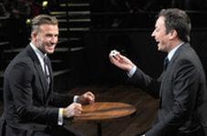 دیوید بکهام در برنامه تلویزیونی، تخم مرغ خام را به سرش کوبید!