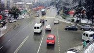 راننده بعد از تصادف از ماشین به بیرون پرتاب شد و ماشین خود به خود پارک شد!