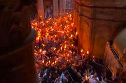 مراسم آتش مقدس در بیت المقدس