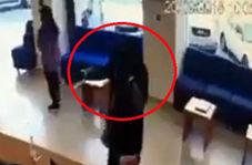 سرقت از بانک با پوشش زنانه و اسلحه اسباببازی!