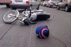لحظه تصادف شدید دو موتورسوار در تهران