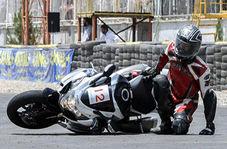 وقتی جاده پیچید و موتورسوار نپیچید!