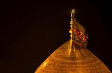 شستشوی گنبد مطهر حرم حضرت سیدالشهدا(علیه السلام) قبل آغاز ماه محرم