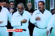 لحظاتی دیده نشده از حضور سردار سلیمانی در مراسم عزاداری حسینی در کربلا + فیلم