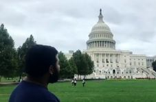 مداحى شنیدنی یک ایرانی مقابل کنگره ایالات متحده آمریکا