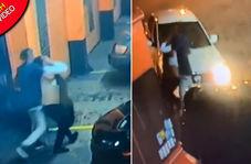 لحظه ربودن زن جوان از مقابل تعمیرگاه خودرو!