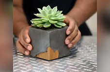 ایده ساخت گلدان بتنی کوچک و زیبا