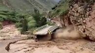 طغیان رودخانه در پرو جاده را محو کرد! + فیلم