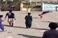 پشتک زدنهای دیدنی دانش آموز چابهاری در مدرسه