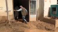 درددل غمانگیز پیرمرد سیل زده در پلدختر