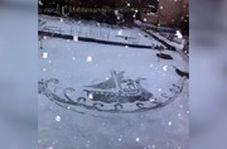 نقاشی های برف در دمای منفی ۱۰ درجه