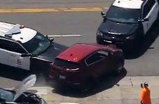 اقدام عجیب پلیس برای متوقف کردن خودروی فرد سارق