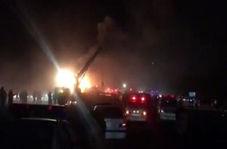 آتش سوزی اتوبوس حامل مسافر در آزاد راه نطنز -کاشان!
