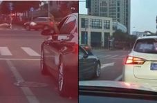 برخورد جالب راننده زن با یک راننده بی فرهنگ!