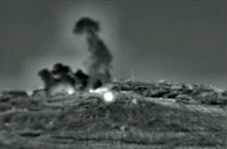ویدئوی منتشرشده از حمله راکتی اسرائیل به سوریه