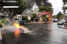 سقوط هواپیما روی یک ویلای مسکونی در کالیفرنیا
