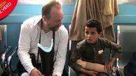 کودک شجاع یمنی که سوژه رسانهها شد!