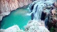 """آبشار زیبا در دل طبیعت روستای """"آب بید بوان"""""""