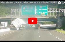 لجبازی دو راننده در اتوبان حادثه ساز شد!