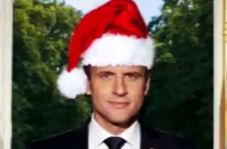 هدیه بابانوئل به مکرون