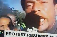 اعتراض شدید شهروند آفریقایی در پخش زنده تلویزیونی
