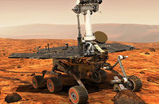 نحوه نشستن ربات بر سطح مریخ