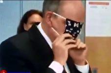 نحوه عجیب ماسک زدن یک مقام بلژیکی خبرساز شد