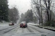 سر خوردن ماشین در جاده یخ زده