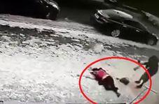 سقوط مرگبار قطعه یخ از طبقه ۱۱ ساختمان بر سر زن جوان