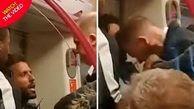 حمله غافلگیرکننده مأمور پلیس به مرد جوان در مترو