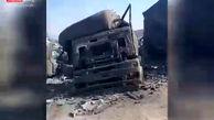 قبرستان کامیونها در مرز ایران و افغانستان+فیلم
