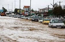 خیابان های اهواز بعد از بارندگی