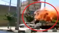 برخورد سیم برق با یک کامیون در قم فاجعه آفرید!