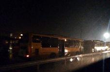 بارش باران شدید در مرز مهران