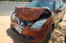 پرت شدن یک مرد به وسط جاده پس از تصادف وحشتناک